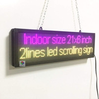 Wholesale plastic advertising signs - LED Advertising Sign,New Indoor SMD Full Color LED Business Open Sign Scrolling Electric Display Text Image Logo Board