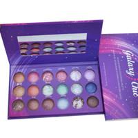 gebackene lidschatten make-up großhandel-Fabrik Direkt Dhl-frei Neue Make-Up Augen Galaxy Chic Lidschatten-palette 18 farben Gebacken Lidschatten Palette Shimmer