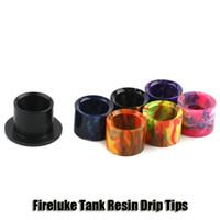 Wholesale drip tips black - 100% Original Freemax Fireluke Tank Resin Drip Tips Black Tip Mouthpiece Cap For 4.5ml Fireluke Atomizers