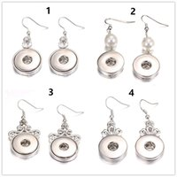 Wholesale 12 mm snap button charms for sale - Group buy 10 Pairs Diy Snap Button Earring Women Fashion Fit Mm Ginger Snap Oval Pendant Charm Metal Chunk Jewelry
