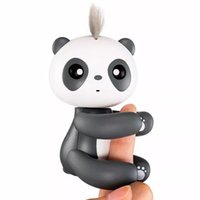 Wholesale Baby Interactive - Finger Panda Monkey Unicorn React to Sound Motion Touch Blink Eyes Turn Heads Blow Kisses Talk Interactive Baby Pandas Toys