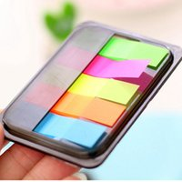 5 cores Auto-adesiva Memo Pad Sticky Cute Candy Color Sticky Notes Marcador Point It Marker Memo Sticker Paper