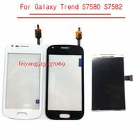 toque a tendência de samsung venda por atacado-LCD Touch original para Samsung Galaxy S Duos 2 Tendência S7580 S7582 Screen Display LCD digitalizador Sensor Lente de Vidro Com Rastreamento