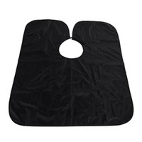 Wholesale cutting gowns hairdressing - apron sink New Arrival Short Salon Hairdressing Apron Wrap Black Hair Cutting Gown Cape For Barber Hair Styling Cloth
