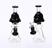 Wholesale cone pipe - Black Duck Mouth Type Glass Bongs 14.4mm with Cone Bowl Monster Water Pipes 22cm Dab Rig Tyre Percolato Heady Glass Bong