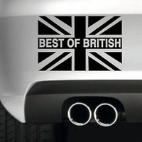 4x4 çıkartmalar toptan satış-En iyi İngiliz Bayrağı Araba Tampon Sticker Komik Sürüklenme Jdm 4x4 Vinil Duvar Sanatı