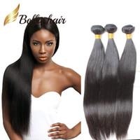 hint saçları 24 inç toptan satış-3 Demetleri 9A 10 ~ 24 inç İnsan Saç Doğal Renk Işlenmemiş Brezilyalı Malezya Hint Perulu Düz Saç Uzantıları Ücretsiz Kargo