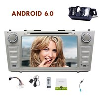 Wholesale car dvd android toyota for sale - Group buy Android Marshmallow Quad Core CAR DVD Player For Toyota Camry Multi Touch Screen GPS Navigation System Microphone