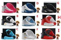 ingrosso scarpe da basket giovanili-2017 Retr 12 bambini Scarpe da basket per bambini 12s Scarpe sportive di alta qualità Youth Boy Girl Sneakers da basket in vendita EU28-35