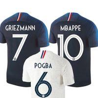 hombres francia al por mayor-2 Stars Copa del mundo 2018 campeón France  Mbappe GRIEZMANN 87793eda512d4