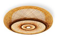 bambu asiático venda por atacado-Mão-tecido de Bambu De Vime De Vime Rodada Lanterna Sombra Luminária Luminária de Teto Rústico Asiático Japonês Lâmpada Quarto LLFA Sala de estar