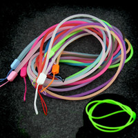 Wholesale cell phone lanyard cord for sale - Group buy Luminous Lanyard For Mobile Cell Phone Key USB Cords Strap Color Mobile Phone Straps