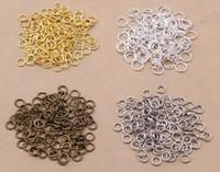 кольца ожерелья прыгать оптовых-1000 шт./лот 5 мм открытый прыжок кольца ювелирные изделия DIY выводы для колье ожерелья браслет решений, 4 цвет выбирает (диаметр: 0,7 мм)
