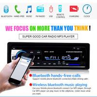 kit usb mp3 mp4 venda por atacado-Car Rádio Estéreo Player Telefone Bluetooth AUX-IN MP3 FM / USB / 1 Din / Controle Remoto 12 V Car Audio Auto