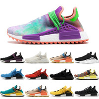 Wholesale online media - 2018 Cheap Wholesale NMD Online Human Race Pharrell Williams X NMD Sports Running Shoes,discount Cheap Athletic mens Shoes With Box