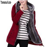 Wholesale long zip up hoodies - Autumn Women Hoodies Cotton Mixed Zip -Up Zipper Solid Full -Sleeve Hooded Casual Hoodies Sweatshirts Plus Size M -4xl Ns8713