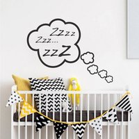 arte de la pared pegatinas nube al por mayor-DIY Snoozing Cloud Bedroom Tatuajes de pared Baby Room Wall Art Sticker Nursery Decor