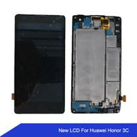 huawei 3c touch onur toptan satış-Huawei Onur için 3C H30-U10 H30-L02 H30-L01 LCD Ekran Dokunmatik Ekran Digitizer Meclisi ile Çerçeve onur onur 3x ücretsiz nakliye