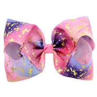 ingrosso le stelle dei capelli-VENDITA TOP! Cartoon Baby Girls JOJO Unicorno Starry Sky Barrettes Colore Bubble Star Tornante Love Heart Bowknot Clip di capelli Bambini Headwear H18