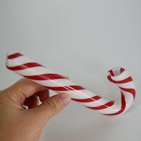 comprar gafas online al por mayor-Candy Cane Glass Pipe Smoking 6.9 pulgadas de altura Pipas de mano Hierba seca Tabacos de cuchara de tabaco La mejor tienda de regalos de Navidad en línea