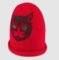 0821c8d7f6c0 Foulard en soie à imprimé pour femmes Soie Foulard en soie Chapeau en laine  avec tigre CHAPEAU ÉCHARPE NOIR DAME Chapeau en laine avec Chat mystique