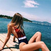 Wholesale Usa Suits - 2018 USA STOCK One-Piece Suits Women Swimwear Bandage Unpadded Bikini Bra Bathing Suit Swimsuit NEW Beachwear Bikini