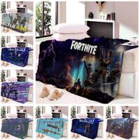 Wholesale royal beds for sale - 3D Fortnite Battle Royal Blanket Short Plush Throw Blanket Soft Warm Bed Sheets Fancy Designs Travel Blanket