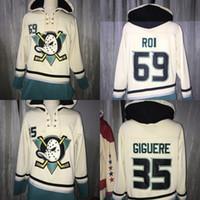 124b34fbff6 Wholesale anaheim ducks hoodie online - Anaheim Ducks Hoodies Jean  Sebastien Giguere ROI Vintage Heavyweight Pullover