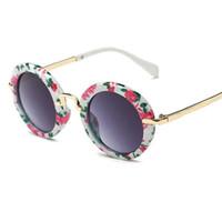óculos de sol bonitos dos meninos venda por atacado-Novas Crianças óculos de sol Bonito Óculos De Sol para o bebê meninas meninos óculos de sol UV400 óculos de moda por atacado 8223