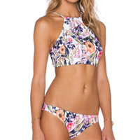 1b6ffdaa9d5 Femme Bikini Brazilian Sexy High Neck Woman Swimsuit Lady Bathing Printed  Push Up Swimwear Beach Wear Two Piece Suits 16 8xm V