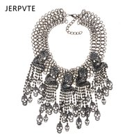 Generous Silver Feather Vintage Style Bohemian Mexican Gypsy Tibet Tassel Necklace Jewelry & Watches