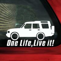 4x4 çıkartmalar toptan satış-15 * 8 cm Bir hayat üzerinde yaşamak arazi keşif araba sticker 4X4 off-road çıkartması CA-123
