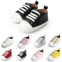 spaziergummi großhandel-2018 New Infant Sneakers Schuhe Neugeborenen Kleinkind Mädchen Jungen Weiche Erste Wanderer Schuhe Gummi rutschfeste Kleinkind Schuhe Hohe Qualität