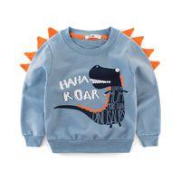 pulls de dinosaure achat en gros de-2019 printemps Automne Enfants Hoodies vêtements Bébé Garçon Coton Sweat Infant Dinosaure Tops Tops Enfants Hiver Manteau vêtements