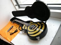 Wholesale Zakk Wylde Emg - ZAKK Guitar EMG pickup Free shipping Wholesale guitars in stock Zakk Wylde Electric guitar Black & yellow with case