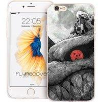 iphone kırmızı göz toptan satış-Naruto Kırmızı Gözler Şeffaf Yumuşak TPU Silikon Fundas Kılıfları iPhone 10 X 7 8 Artı 5S 5 SE 6 6S Artı 5C 4S 4 iPod Touch 6 5 Kapak.