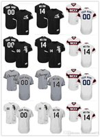 Wholesale Authentic Shorts - custom Men's Majestic Chicago White Sox #00 Your Name 14 Bill Melton Authentic Black Team Logo Fashion Cool Base Jersey