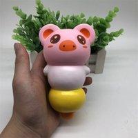 kabak oyuncakları toptan satış-Domuz Yumuşacık Squishies Kawaii Sıkmak PU Oyuncak Yavaş Ribaund Yükselen Jumbo Simülasyon Kabak Hayvan Modeli Vent Dekompresyon 13hw V