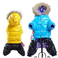 Wholesale dog down coat - Hot Sale Winter Pet Dog Clothes Super Warm Down Jacket For Small Dogs Waterproof Dog Coat Thicker Cotton Hoodies For Chihuahua