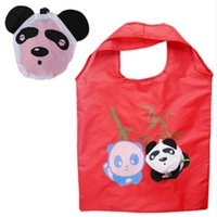 Discount wholesale heart handbags - New Reusable Handbag Grocery Tote Storage Eco Travel Animal Shopping Bag Travel packing Organizers(Random Color) Free Shipping