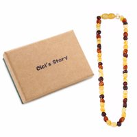 Wholesale labs testing online - Raw Baltic Amber Teething Necklace for Baby Multicolor Raw Sizes Natural Anti Inflammatory Beads Lab Tested