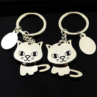 Wholesale cat cartoon man boy resale online - Women Men Shake Your Head Cat Pet Key Buckle Bag Automobile Ornament Metal Alloy Keychain For Promotion Gift xx ff