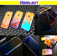 Wholesale plastic mirror material - Bestsin Liu Light Style Soft Material Phone Case Transparent with Multi-Color Changing Great Mirror Reflection Free DHL Shipping
