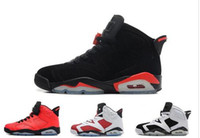 Wholesale pink jump - 2017 New Mens Air Jump men 6 XI Basketball Shoes Men Women Low Athletic Sport Shoes 6s Infrared Sneakers Red Size41-47