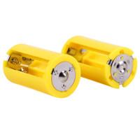 d держатели батарей оптовых-4шт держатель батареи конвертеры 3AA до D размер параллельный аккумулятор конвертер адаптер держатель переключатель случаи коробка
