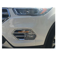 Wholesale car parts resale online - car styling body front fog light lamp frame sticker styling ABS Chrome cover trim parts For Ford Kuga