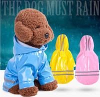 ingrosso abbigliamento scuro-Pet Dog Outdoor Raincoat Waterproof Dog Rain Coat Jacket Reflective Clothing In Dark Rainwear Apparel per big dog raincoat