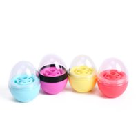 Wholesale Plastic Egg Packaging - Egg Shape Empty Lip Balm Containers 2018 New Arrival Lipstick Ball Plastic Packaging Beauty Tool