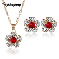 conjuntos de collar de boda de diamantes de imitación al por mayor-