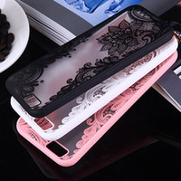 Wholesale Iphone Case Luxury Lace - 2018 brand new lace design 21 colors cellphone protector ShockProof Luxury TPU Rugged Case Cover for iphone 5 6 7 8 plus X